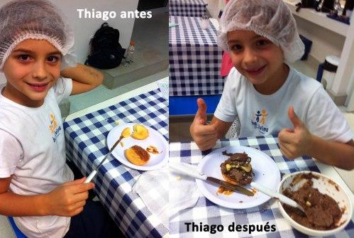 Thiago antes y después